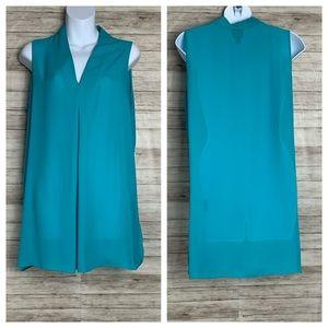 Worthington Blue Sleeveless Tunic Size Large
